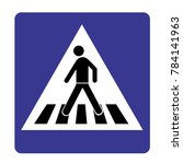human walk crosswalk icon | Shutterstock .eps vector #784141963