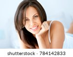 beautiful young woman portrait | Shutterstock . vector #784142833
