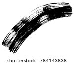 artistic freehand black paint ... | Shutterstock . vector #784143838