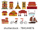 vietnam landmarks. set of... | Shutterstock .eps vector #784144876