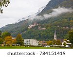 vaduz castle surrounded by... | Shutterstock . vector #784151419