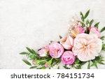 summer blossoming delicate... | Shutterstock . vector #784151734