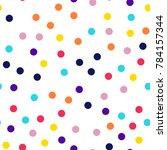 memphis style polka dots... | Shutterstock .eps vector #784157344