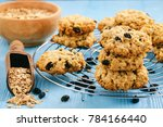 homemade oatmeal cookies with... | Shutterstock . vector #784166440