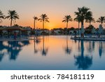 large swimming pool in a luxury ... | Shutterstock . vector #784181119