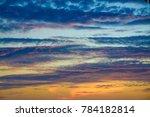 dramatic sky clouds dusk   Shutterstock . vector #784182814