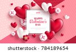 valentine's day concept... | Shutterstock .eps vector #784189654