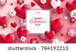 valentine's day concept... | Shutterstock .eps vector #784192213