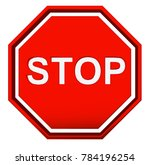stop sign in 3d