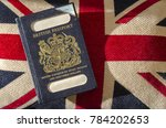 expired british passport with... | Shutterstock . vector #784202653