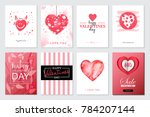 set of valentine's day artistic ... | Shutterstock .eps vector #784207144