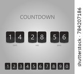 countdown timer realistic black ... | Shutterstock .eps vector #784207186