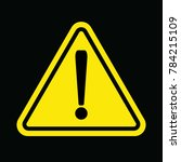 Caution Sign Yellow Triangle...