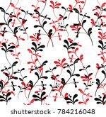 print with flowers. plants ... | Shutterstock .eps vector #784216048