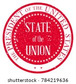 state of the union button based ... | Shutterstock . vector #784219636