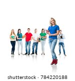 large group of teenage students ... | Shutterstock . vector #784220188