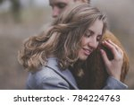 young girl and guy with blond... | Shutterstock . vector #784224763