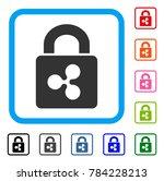 ripple lock icon. flat gray...