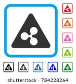 ripple danger icon. flat gray... | Shutterstock .eps vector #784228264
