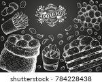 potato vector illustration. box ...   Shutterstock .eps vector #784228438