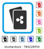 ripple cards icon. flat gray...