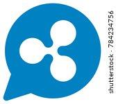 ripple cloud balloon flat... | Shutterstock .eps vector #784234756