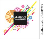 vector of abstract geometric... | Shutterstock .eps vector #784234999