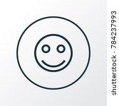 smile icon line symbol. premium ... | Shutterstock . vector #784237993