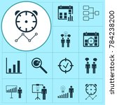 administration icons set with... | Shutterstock .eps vector #784238200