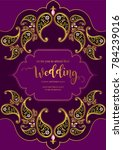 indian wedding invitation... | Shutterstock .eps vector #784239016