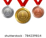 set of realistic 3d champion...   Shutterstock .eps vector #784239814