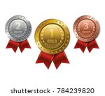 set of realistic 3d champion... | Shutterstock .eps vector #784239820