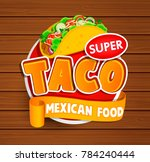 taco mexican food logo and food ... | Shutterstock . vector #784240444