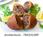 icli kofte   boiled kibbeh  ...   Shutterstock . vector #784241389
