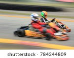 two driver racing go karts | Shutterstock . vector #784244809