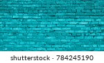 Turquoise Brick Wall Texture...