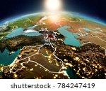 sunrise above armenia...   Shutterstock . vector #784247419