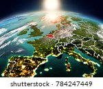 sunrise above belgium... | Shutterstock . vector #784247449