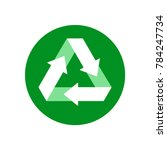 recycle icon  reuse symbol ...   Shutterstock .eps vector #784247734