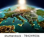 sunrise above slovenia... | Shutterstock . vector #784249036