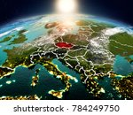 sunrise above czech republic... | Shutterstock . vector #784249750