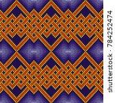 knitting seamless vector... | Shutterstock .eps vector #784252474