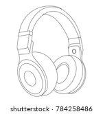 headphones vector illustration  ... | Shutterstock .eps vector #784258486