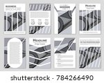 abstract vector layout... | Shutterstock .eps vector #784266490