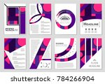 abstract vector layout... | Shutterstock .eps vector #784266904