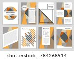 abstract vector layout... | Shutterstock .eps vector #784268914
