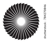 black and white sun vector icon.... | Shutterstock .eps vector #784270846
