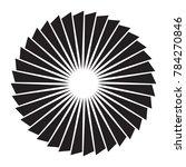 black and white sun vector icon.... | Shutterstock .eps vector #784270846