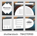 abstract vector layout... | Shutterstock .eps vector #784270900