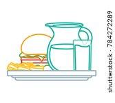 fast food design   Shutterstock .eps vector #784272289
